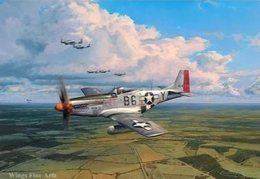 American Eagles P-51 by Robert Taylor - Aviation Art