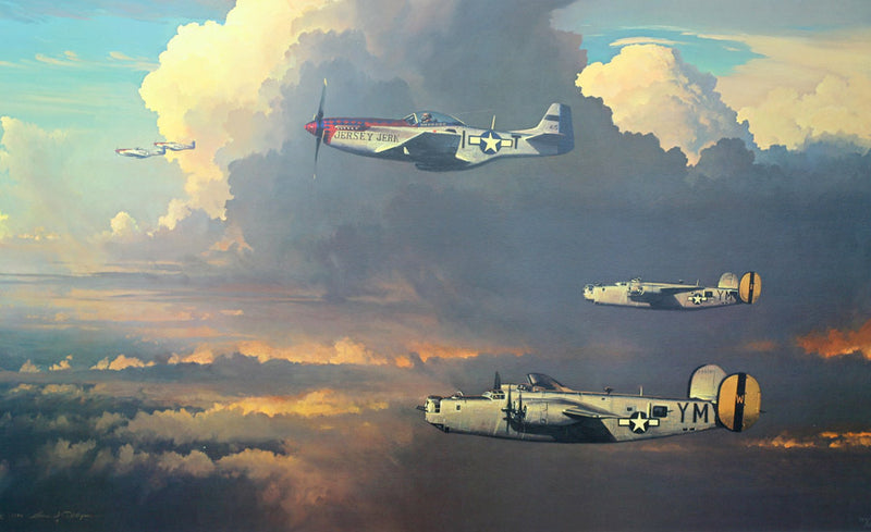 Among the Columns of Thor by William S Phillips - Aviation Art