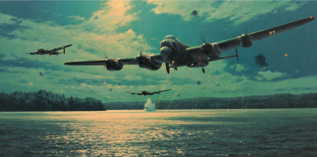 Approach To The Mohne Dam by Anthony Saunders - Aviation Art