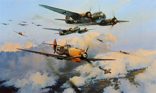 Assault On The Capital Aviation Art by Robert Taylor