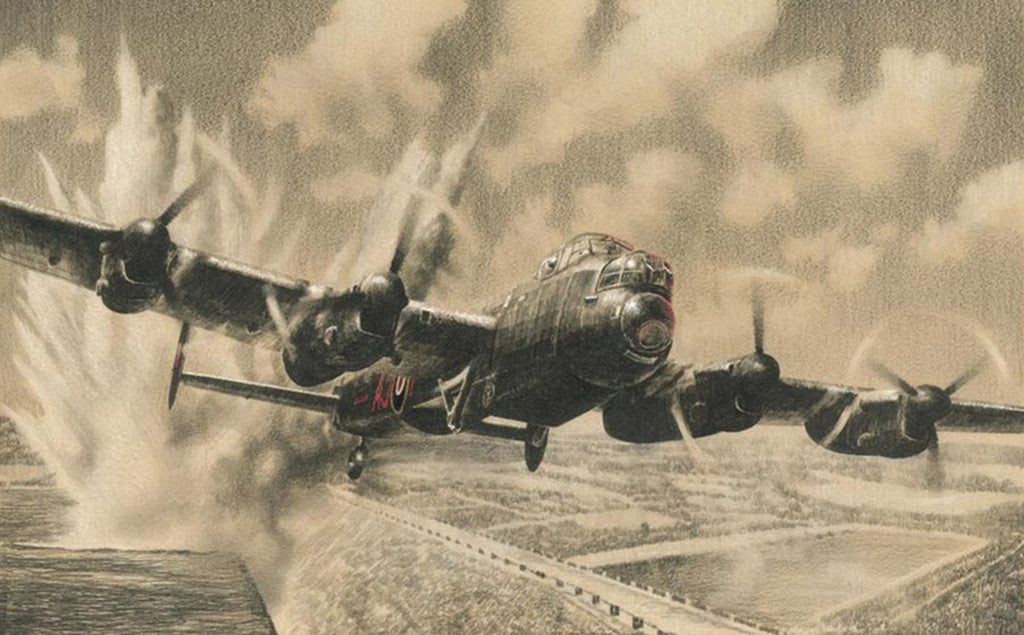Attacking The Sorpe Dam by Richard Taylor -  Aviation Art