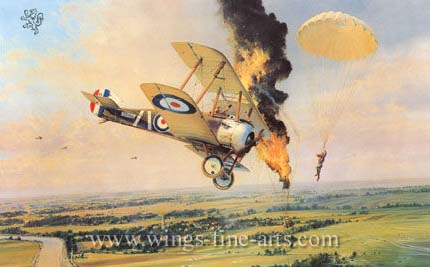Balloon Buster by Robert Taylor - Aviation Art