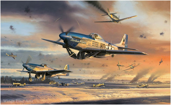 The Battle for New Years Day by Nicolas Trudgian - P-51 Mustang Art