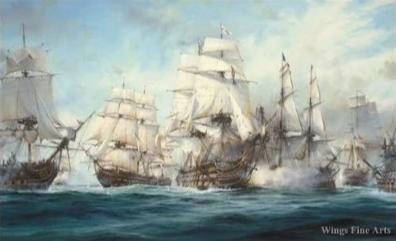 Battle Of Trafalgar by Robert Taylor - Aviation Art
