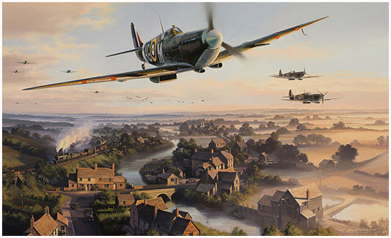 The Biggin Hill Wing by Nicolas Trudgian - RAF Spitfire Art
