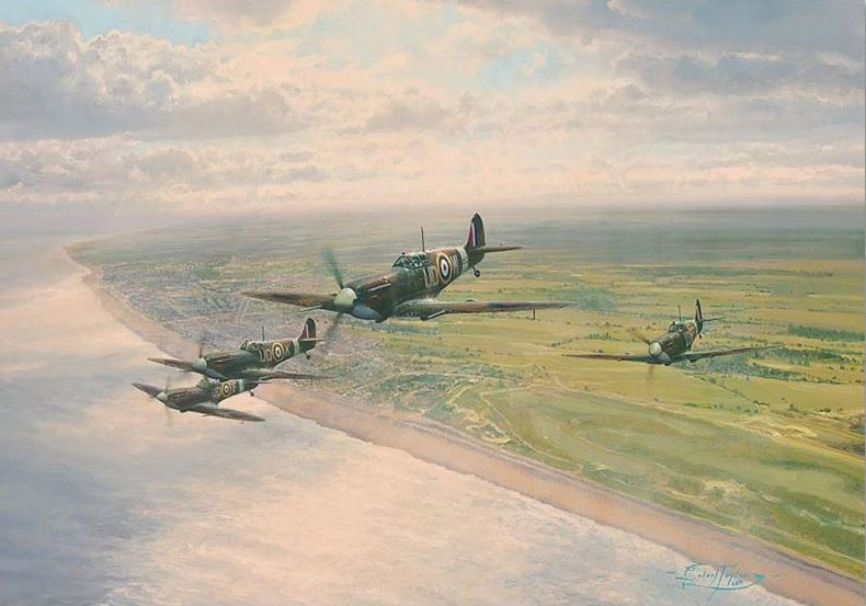 Headlong Into The Clash by Robert Taylor - Aviation Art