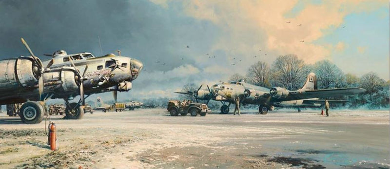 Clearing Skies - B-17 by Robert Taylor Art