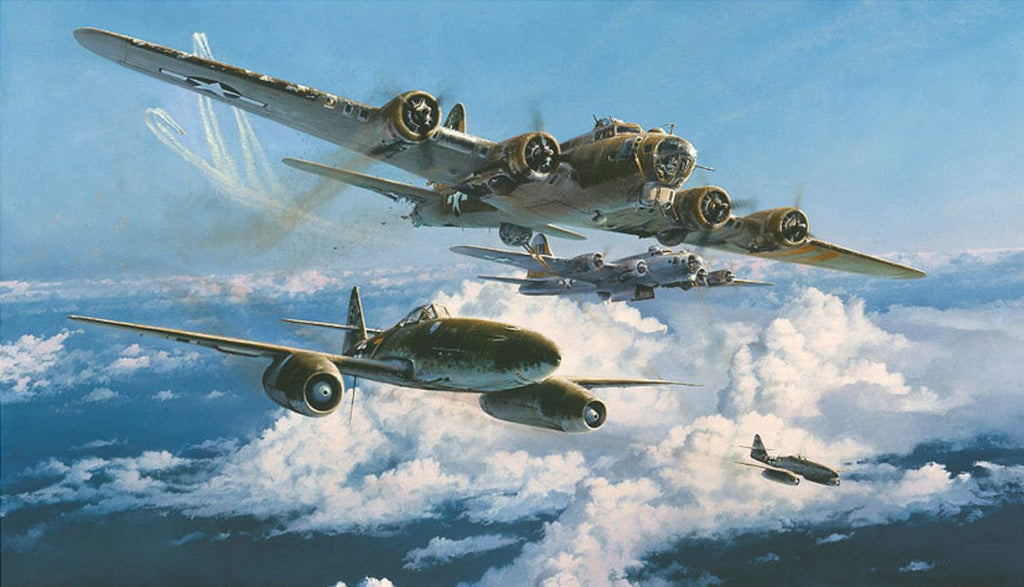Combat Over The Reich By Robert Taylor - Aviation Art