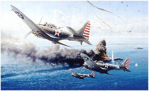 Battle Of The Coral by Robert Taylor - Aviation Art