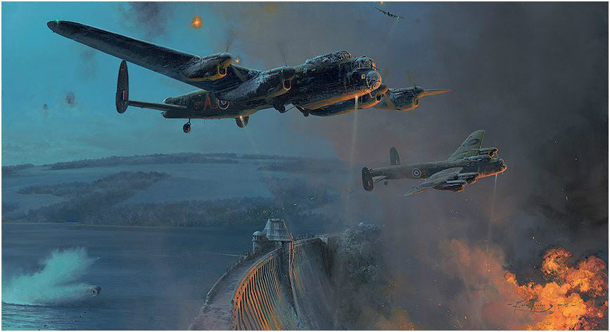 Dambusters - Three Good Bounces by Robert Taylor - Aviation Art