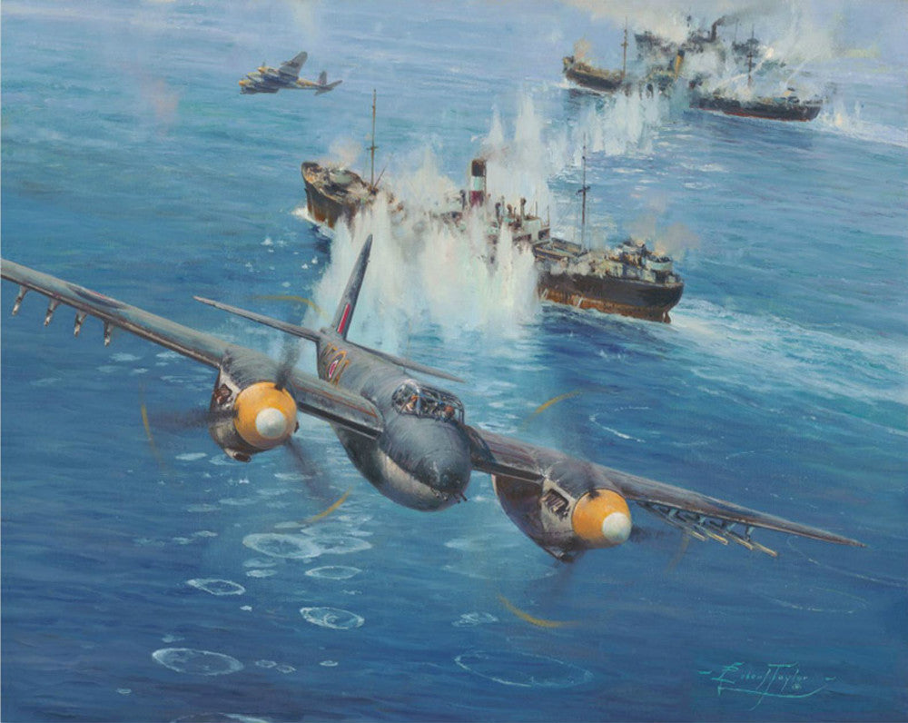 Devastating Strike  By Robert Taylor - Aviation Art