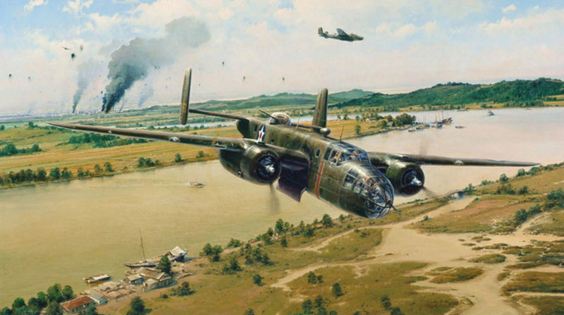 Doolittle Raiders - aviation art by Robert Taylor of the B-25 Doolittle Raiders