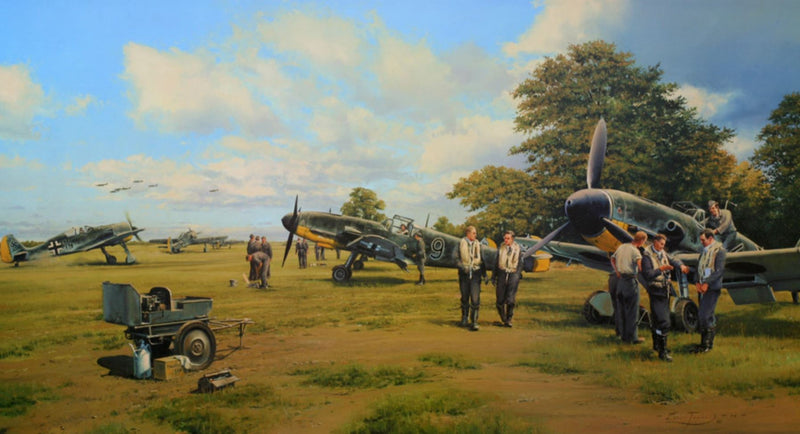 Return From Schweinfurt by Robert Taylor - Aviation Art