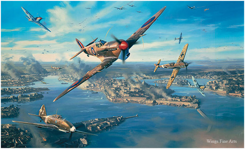 Fortress Malta by Nicolas Trudgian -  Aviation Art