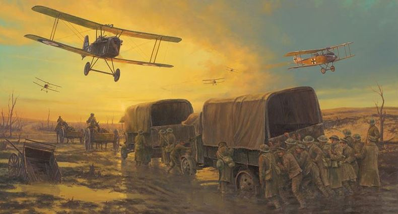 Hellfire Corner by Anthony Saunders - World War 1 WW1 art