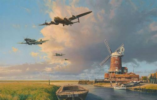 Home Again England - Aviation Art by Robert Taylor