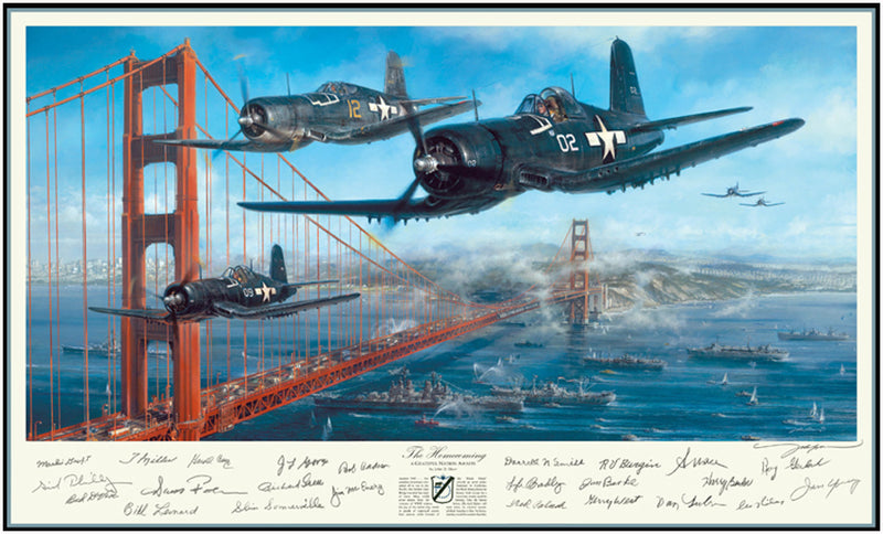 The Homecoming by John Shaw - Aviation Art of the F4U Corsair