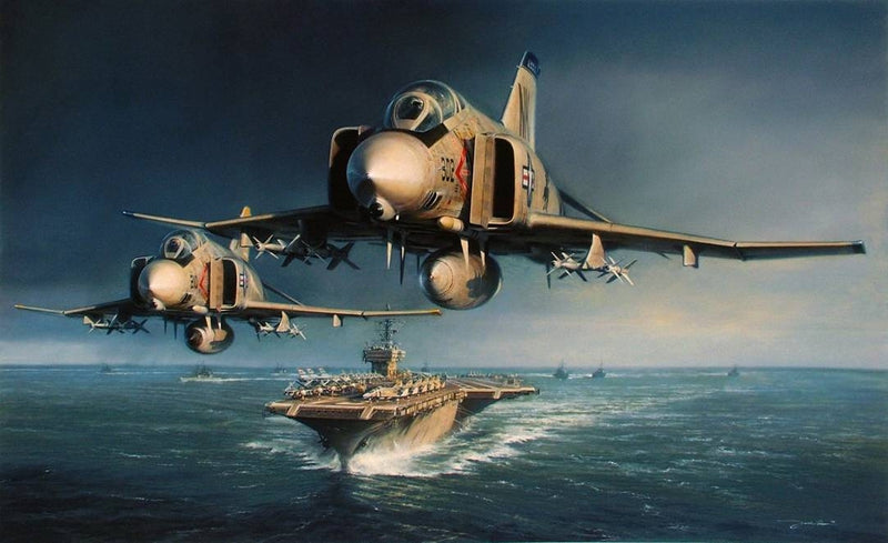 Into The Storm with 15-19 Signatures by John Shaw - Aviation Art