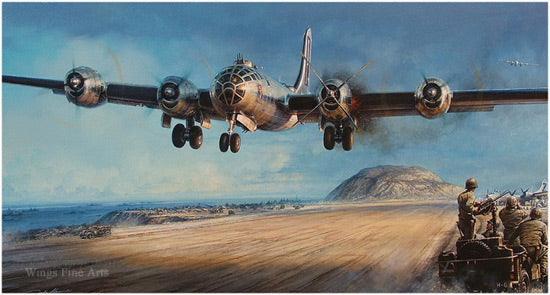 Iwo Jima by John Shaw  - Aviation Art of the B-19 Bomber