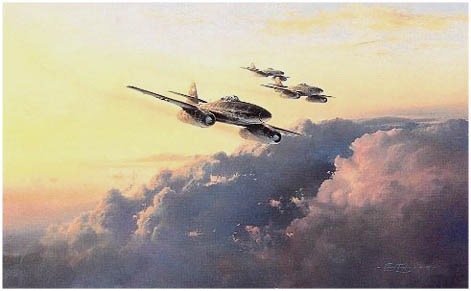 JV 44 by Robert Taylor - Aviation Art of Me 262 Jet of the Luftwaffe