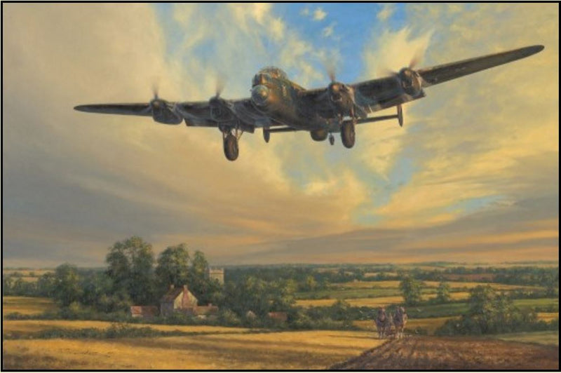 King of the Air by Anthony Saunders - Aviation Art of an RAF Lancaster Bomber