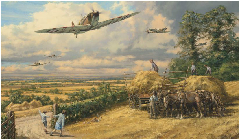 Longest Summer by Anthony Saunders - Signed Aviation Art of Spitfires