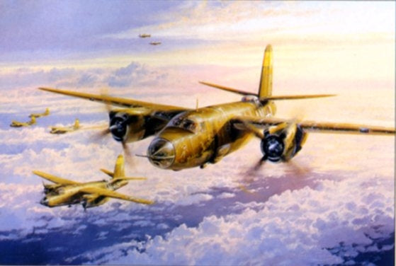 Marauder Mission by Robert Taylor -  Aviation Art of the B-26 bomber