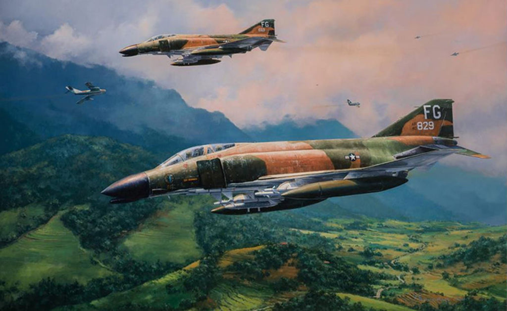 Mig Encounter F4 Phantoms Art by Anthony Saunders F-4