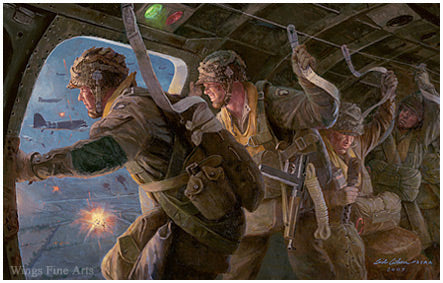 Night of Nights by Gil Cohen - Art of Easy Company on D-Day