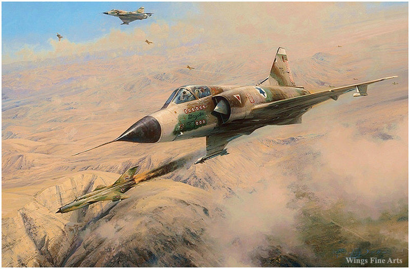 One MiG Down by Robert Taylor - Aviation Art of MiG Jets of the Israel Air Force