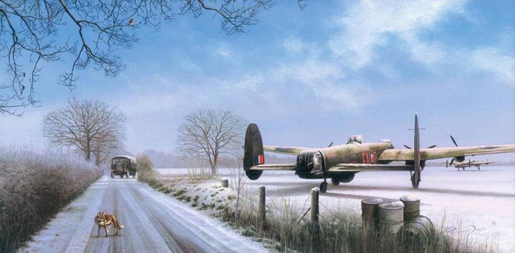 Ops on Hold by Richard Taylor -  Aviation Art of the RAF Lancaster Bomber