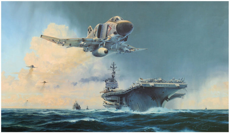 Phantom Showtime by Robert Taylor - Signed & Autographed Aviation Art of the F-4 Phantom Jet