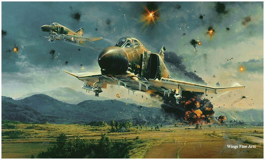 Phantom Strike by Robert Taylor -  Aviation Art of the F-4 Phantom Jet
