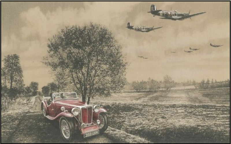 Quiet Reflection by Richard Taylor - Aviation Art of Spitfire fighters of the RAF