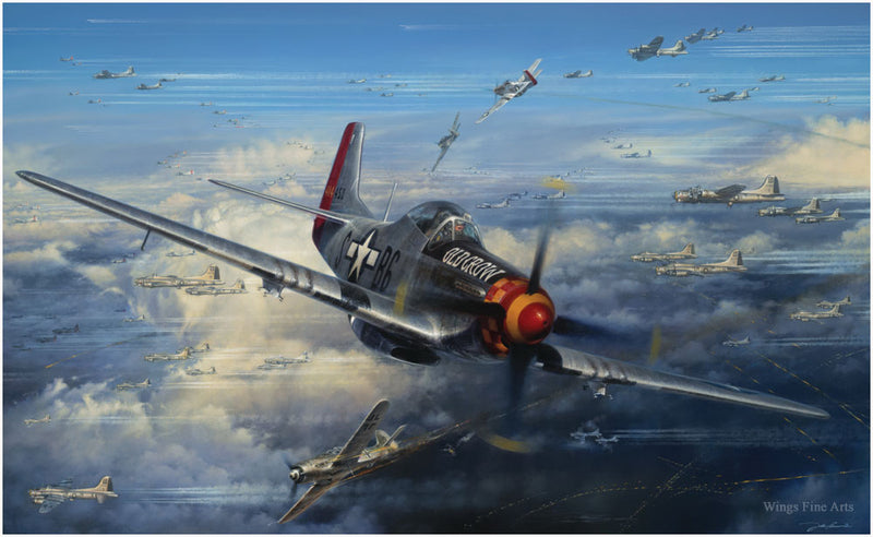 Ramrod Outbound - Aviation Art by John Shaw of the P-51 Mustang