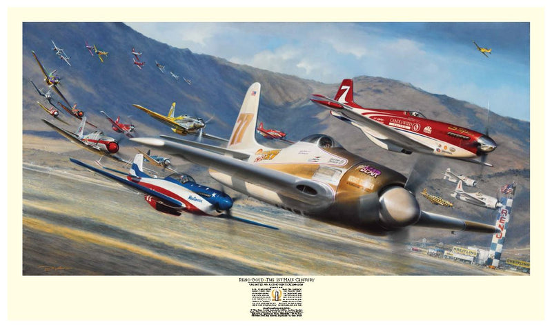 Reno Gold by John Shaw - Aviation Art of the Reno Air Races