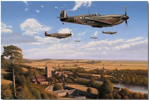 Return From The Fray by Richard Taylor - Aviation Art of the RAF Spitfire