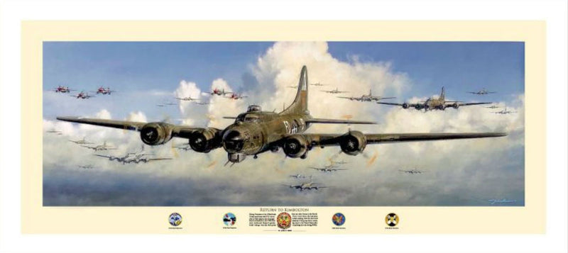 Return to Kimbolton - Aviation Art by John Shaw of the B-17 Bomber