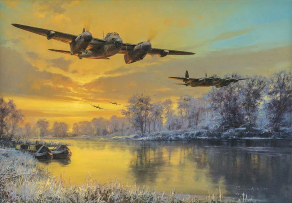 Return of the Pathfinders By Aviation Art Anthony Saunders - RAF Mosquito