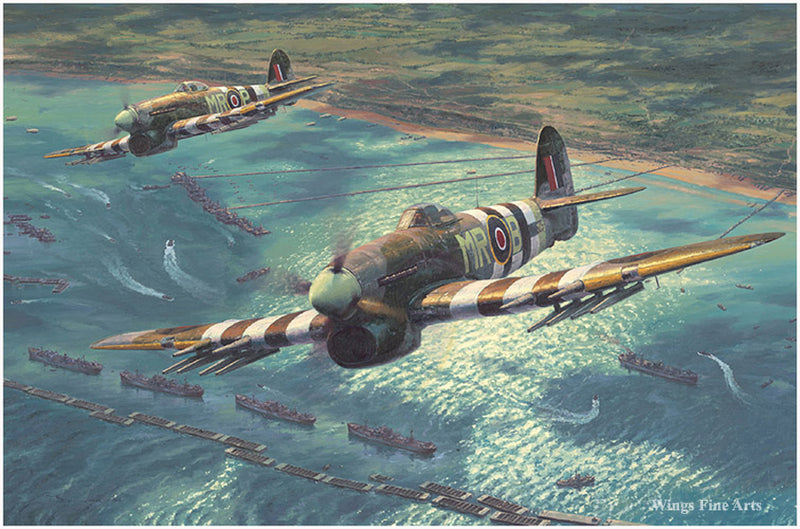 Return Of The Hunters: A D-Day Portfolio by Anthony Saunders-  Aviation Art