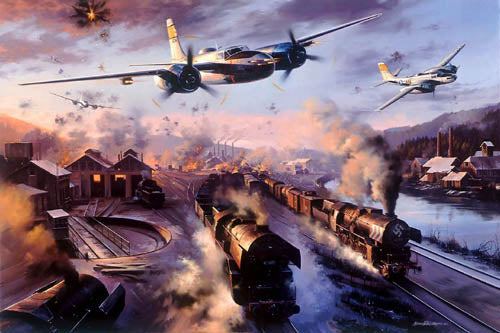 Ruhr Valley Invaders by Nicolas Trudgian -  Aviation Art