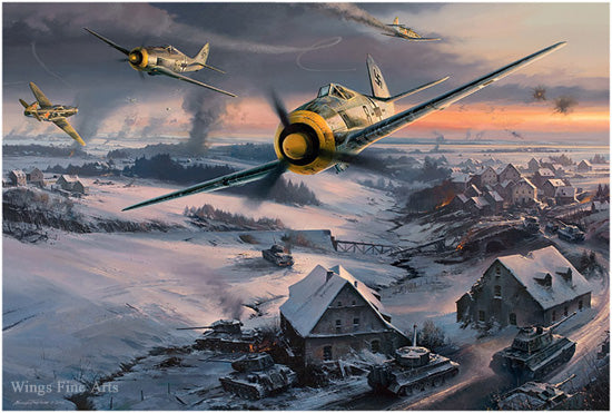 Slowing The Red Tide by Nicolas Trudgian - Luftwaffe Art
