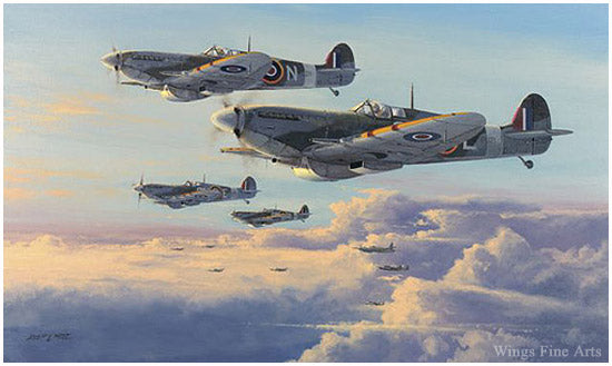 Spitfires - High Patrol by Philip West - Aviation Art of RAF Spitfires