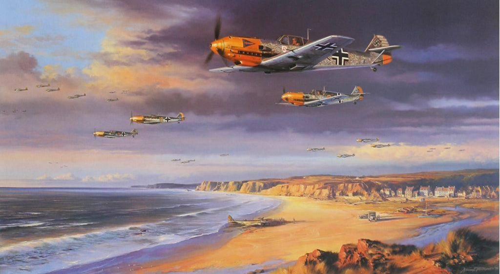 The Storm Clouds Gather by Nicolas Trudgian - Ar of Me109 Luftwaffe