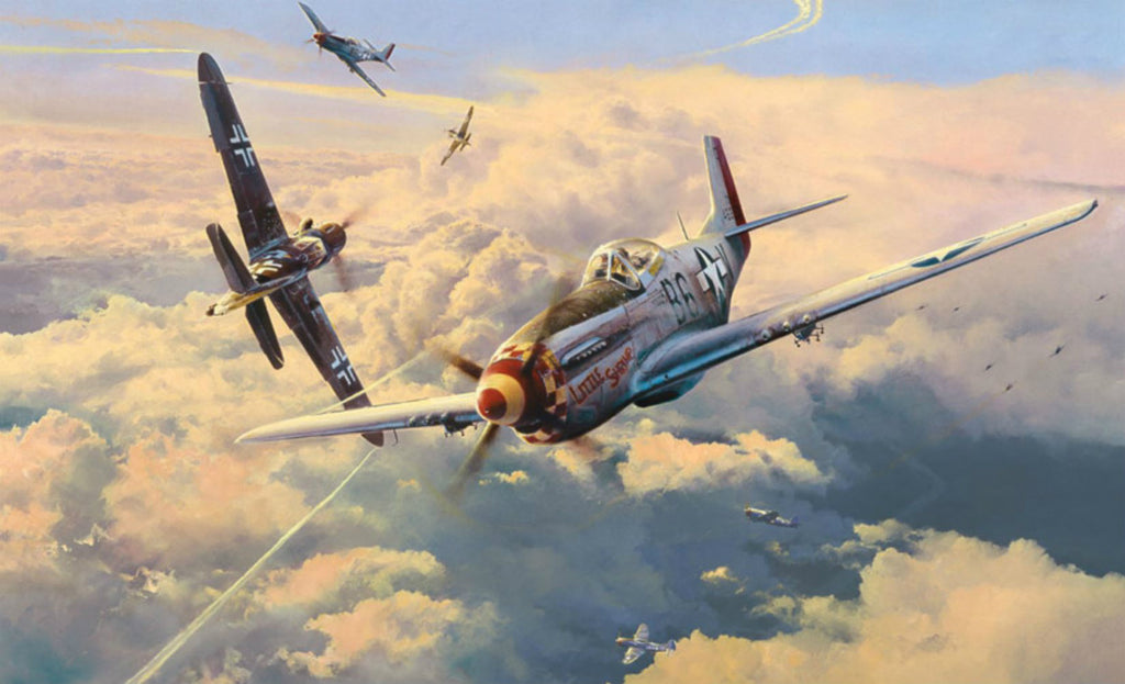 Struggle for Supremacy - GICLEE By Robert Taylor - Aviation Art of the P-51 and the Me109