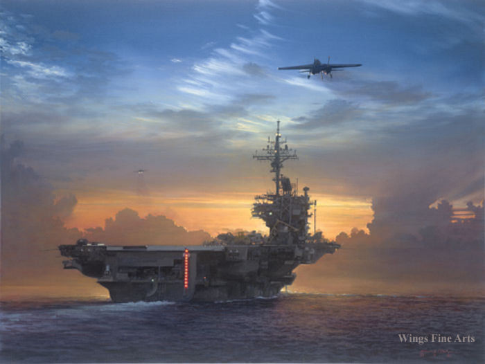 Sunset Recovery by William S Phillips - Aviation Art