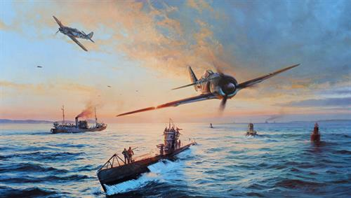 The Homecoming by Robert Taylor - Aviation Art of the FW190 Luftwaffe Fighter