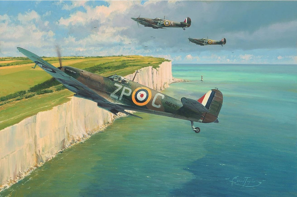 This Sceptred Isle by Robert Taylor - Aviation Art of the Hurricane and Spitfire Fighters of the RAF