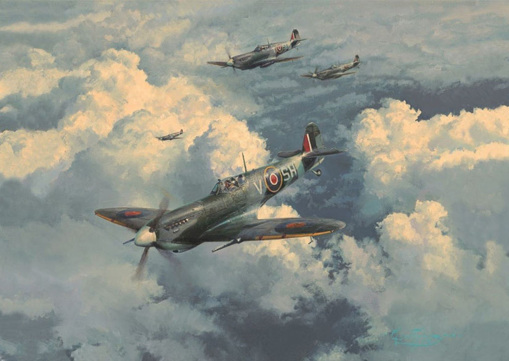 Top Bounce by Robert Taylor - Signed Spitfire Aviation Art