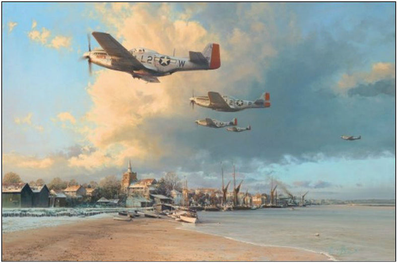 Towards the Home Fires by Robert Taylor - Aviation Art of the P-51 Mustang